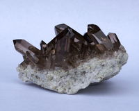 Smoky Quartz crystal cluster Royalty Free Stock Photos