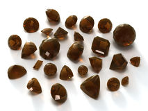 Smoky quartz gems Stock Photo