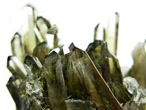 Smoky quartz geode geological crystals Royalty Free Stock Photos