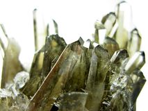 Smoky quartz geode geological crystals Royalty Free Stock Photo