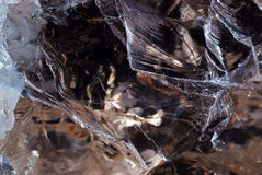 Smoky quartz texture closeup Royalty Free Stock Images