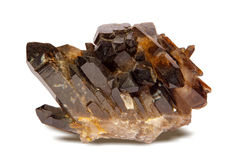 Smoky quartz. Smoky quartz on a white background Stock Images