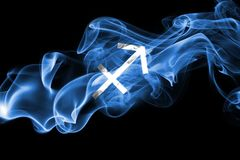 Smoky Sagittarius zodiac astrology sign for horoscope.  Stock Images