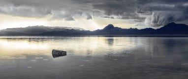 Cloudy Salt Flats Stock Photo