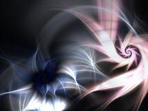 Smoky soft fractal spirals, digital artwork Stock Images