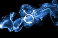 Smoky Taurus zodiac astrology sign for horoscope Stock Photos