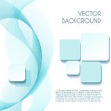 Smoky wave vector abstract background for brochure Stock Photo