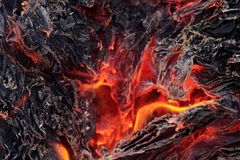 Smoldering ashes Royalty Free Stock Images