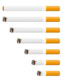 Smoldering cigarette vector illustration Royalty Free Stock Photos