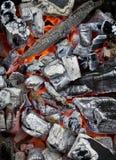Smoldering coal Royalty Free Stock Photos
