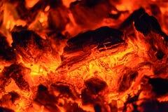 Smoldering coals Stock Photography
