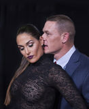 Smoldering Nikki Bella and John Cena Royalty Free Stock Images
