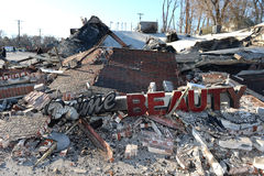Smoldering Remains of Prime Beauty Suppy in Ferguson Stock Photography