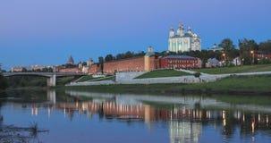 Smolensk am Abend stock video footage