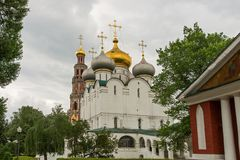 Smolensk Cathedral Novodevichy Convent in Moscow, Russia Stock Photos