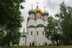 Smolensk Cathedral Novodevichy Convent in Moscow, Russia Royalty Free Stock Photos
