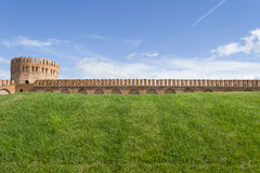 Smolensk fortress wall with the Gorodetskaya tower (Eagle) Stock Photos
