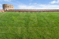 Smolensk fortress wall with the Gorodetskaya tower (Eagle) Royalty Free Stock Image