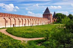 Smolensk fortress wall and Tower, Russia Royalty Free Stock Image