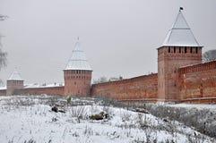 Smolensk Fortress in Winter Stock Photo