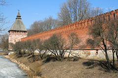 Smolensk Kremlin. The necklace of Russia. Smolensk Fortress Wall, which is also known as 'Smolensk Kremlin', Russia Royalty Free Stock Photos