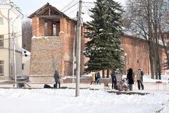smolensk Mur de forteresse Photo libre de droits