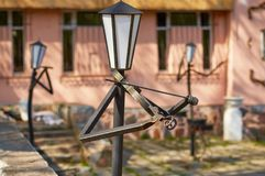 SMOLENSK ROSJA, MAJ, - 03, 2018: Lampiony w parku w dla Obraz Stock