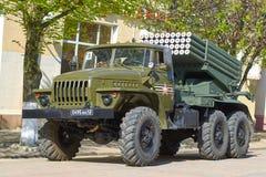 SMOLENSK ROSJA, MAJ, - 03, 2018: Militarny wyposażenie przed Zdjęcie Royalty Free