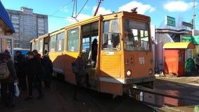 Smolensk spårvagn, födelse i en mitt av 80th år Arkivfoton
