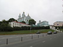 Smolensk. View of the Assumption cathedral. Royalty Free Stock Image