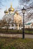 Smolensky大教堂在Novodevichy女修道院,莫斯科 库存图片