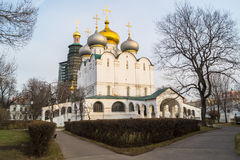 Smolensky大教堂在Novodevichy女修道院,莫斯科 免版税库存照片