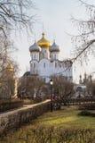 Smolensky大教堂在Novodevichy女修道院,莫斯科 图库摄影