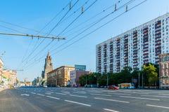 Smolensky avenue of the Garden Ring Royalty Free Stock Image