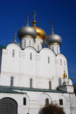 Smolensky cathedral in Novodevichy convent in Moscow Stock Images