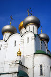 Smolensky cathedral in Novodevichy convent in Moscow Stock Photography