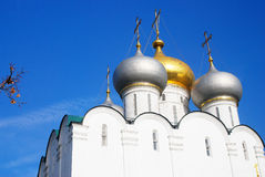 Smolensky cathedral. Novodevichy convent in Moscow Stock Photo