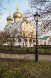Smolensky Cathedral in Novodevichy Convent, Moscow. Stock Image