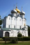 The Smolensky Cathedral in the Novodevichy Convent. Moscow. Russia. The Novodevichy Convent was founded in 16th century. In 2004 it was proclaimed a UNESCO royalty free stock photography