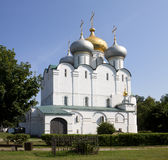 The Smolensky Cathedral in the Novodevichy Convent. Moscow, Russia Royalty Free Stock Photos