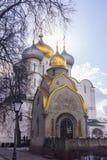 Smolensky-Kathedrale und Prohorovs Kapelle Stockbild
