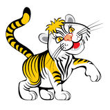 smoll τίγρη διανυσματική απεικόνιση
