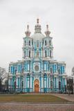Smolniy Cathedral Royalty Free Stock Photo