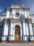 Smolniy cathedral in Saint-Petersburg, Russia Royalty Free Stock Images