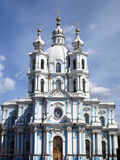 Smolniy cathedral in Saint-Petersburg, Russia Royalty Free Stock Image