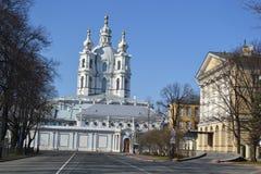 Smolniy monastery Stock Photos