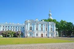 Smolny大教堂在St彼得斯堡,俄国 免版税库存图片