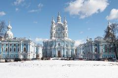 Smolny大教堂 免版税图库摄影