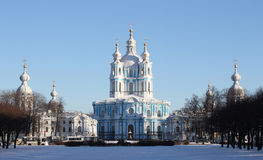 smolny的大教堂 库存图片