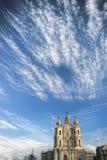smolny όψη καθεδρικών ναών Στοκ φωτογραφίες με δικαίωμα ελεύθερης χρήσης